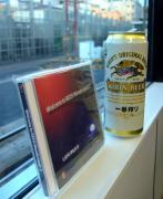 GRGモドキのCDと缶Beerで盛り上げて…