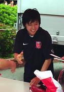 笑顔の柳田選手