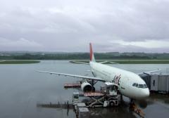 乗ってきた飛行機、エアバスA300-600R