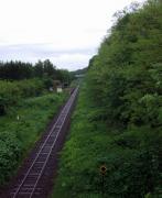 JR石北本線「Nishi-memambetsu Station」