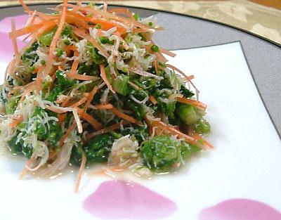 蟹粉拌菜苔