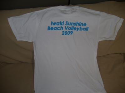 ビーチバレーTシャツ