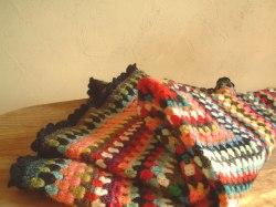 手編みのブランケット