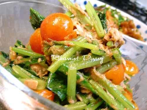 DSCF8・12小松菜&トマト