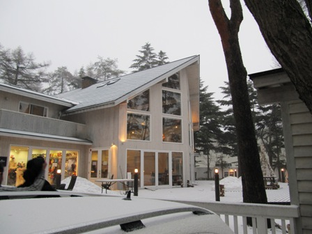 雪のDOG GARDEN RESORT。