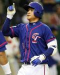 満塁HRを放った台湾のチェン・ユンジ