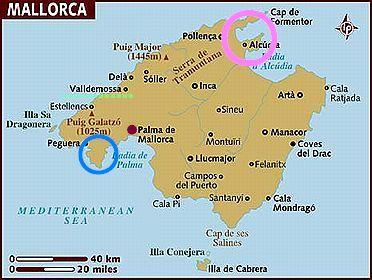 マヨルカ島地図