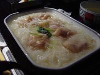 機内食(鶏粥)