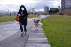 ママと走る~