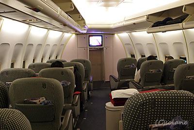 JAL、B747-400DのAコンパートのクラスJ