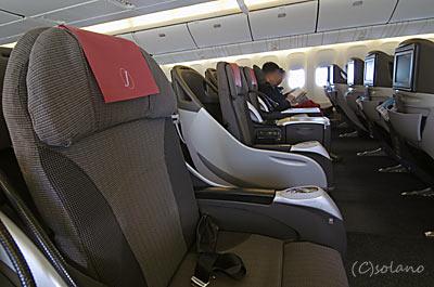 国際線機材777-300ER運用時のクラスJ