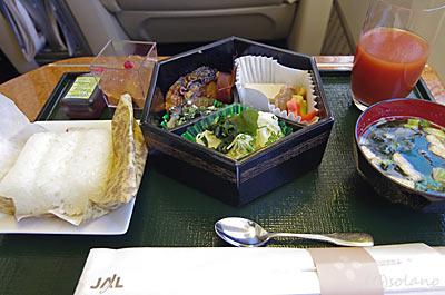 JAL国内線ファーストクラス、機内食