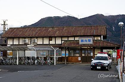 長野電鉄屋代線、綿内駅駅舎