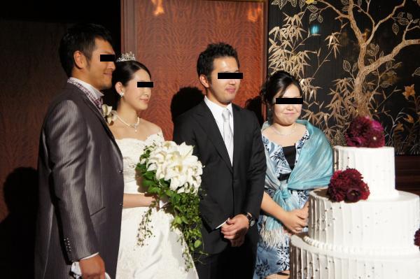 新郎新婦と弟夫婦