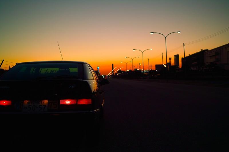 ポートアイランドの夕焼け