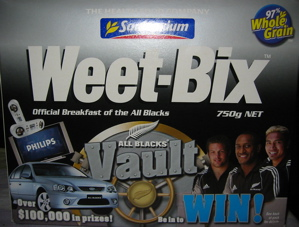 Weet-Bixの箱