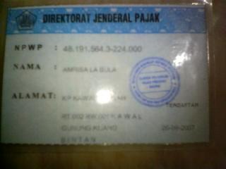 taxcard