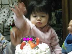 莉子1歳誕生5 12.23