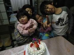 莉子1歳誕生2 12.23