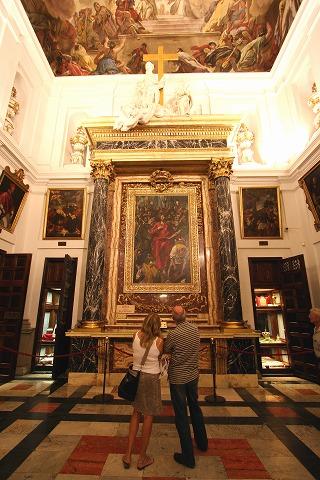 カテドラルの聖具室にあるエル・グレコの「聖衣剥奪」(トレド)