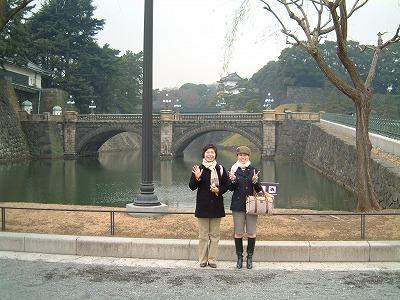 皇居の二重橋で