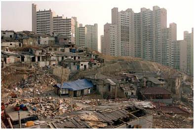 ソウルのスラム街