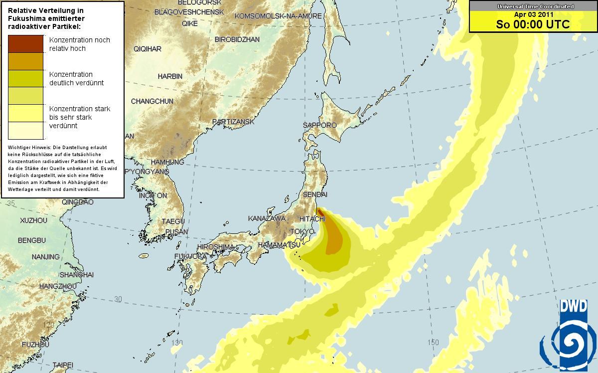 ドイツ気象庁 放射能マップ 4.2