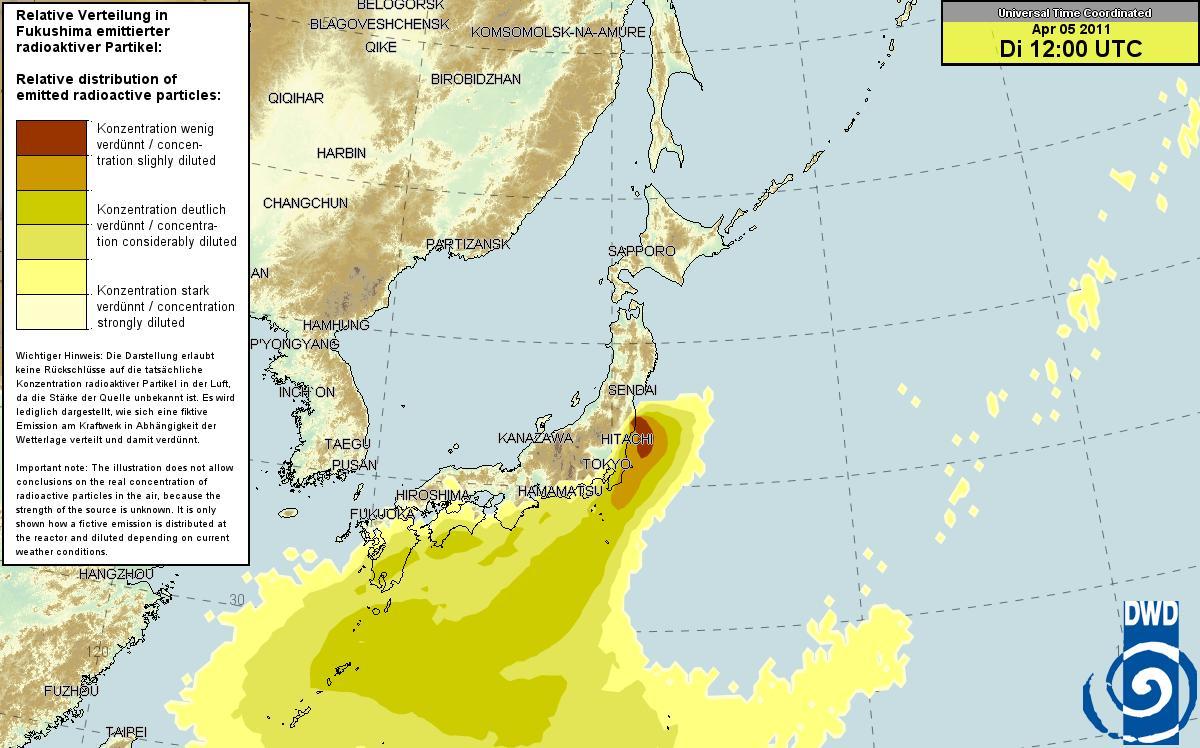 ドイツ気象庁 放射能マップ 4.4