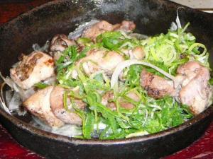 大太地鶏の炭火焼