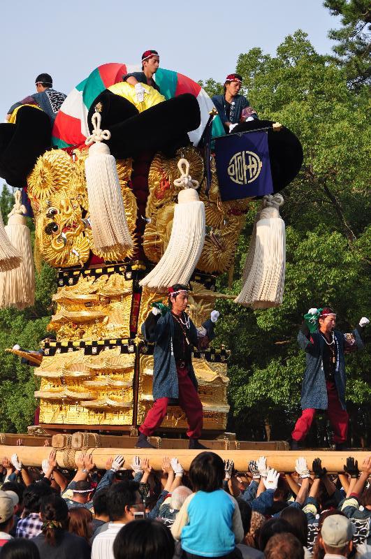 新居浜太鼓祭り 八旗神社 かきくらべ 宇高太鼓台