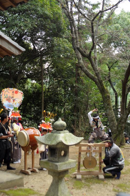 三豊市財田町  鉾八幡宮の例大祭