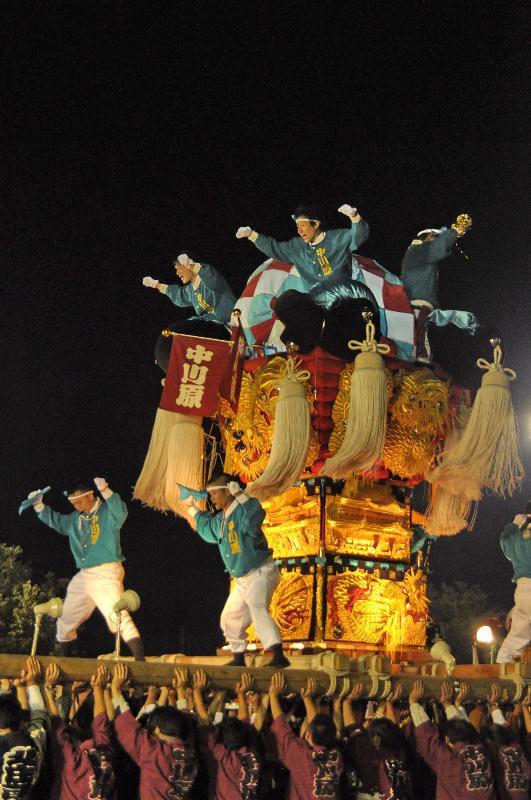 林田ふるさと祭り 林田小学校 中川原太鼓台