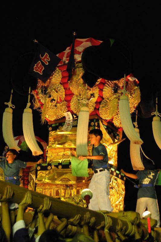 西条祭り 嘉母神社祭礼 上組子ども太鼓台