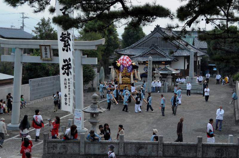 嘉母神社祭礼 禎瑞地区 お宮入前の風景