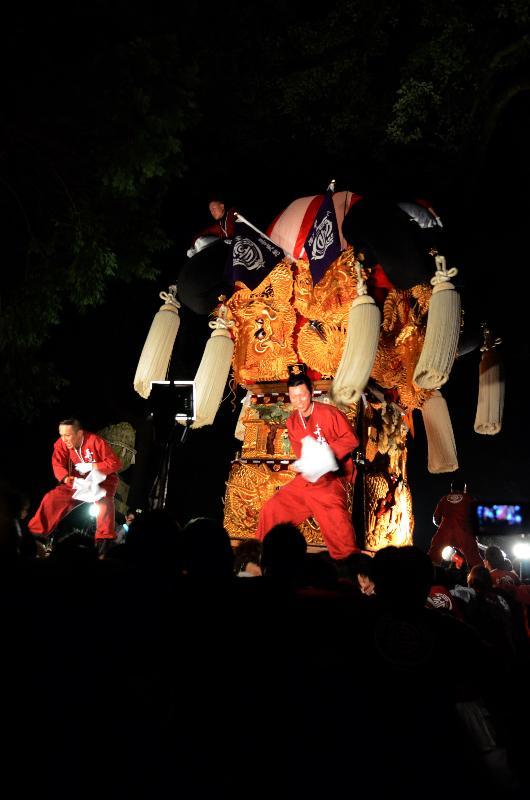上部地区  内宮神社かき上げ  喜光地太鼓台