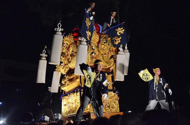 新居浜太鼓祭り 上部地区 内宮神社かき上げ 北内太鼓台