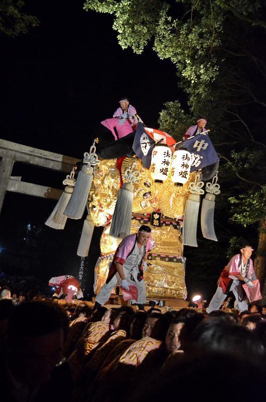 新居浜太鼓祭り 上部地区 内宮神社 中筋太鼓台