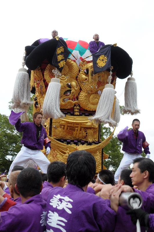 新居浜太鼓祭り 山根グラウンド 萩生東太鼓台