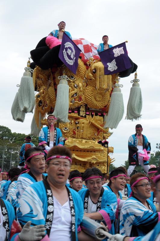新居浜太鼓祭り 上部地区山根グラウンド 船木地区 高祖太鼓台