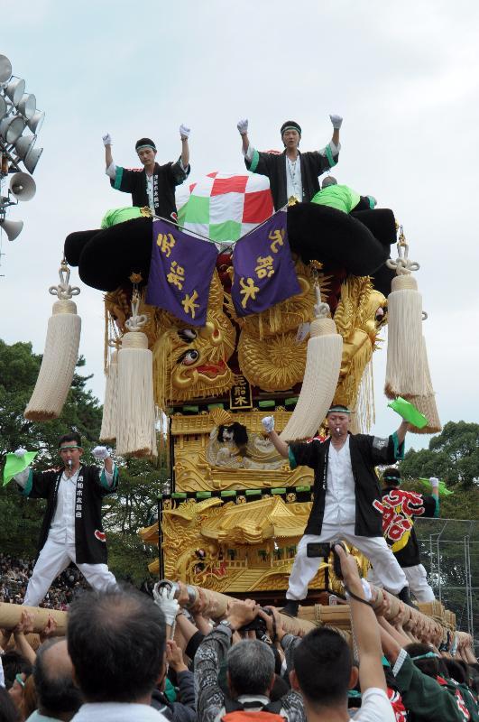 新居浜太鼓祭り 上部地区山根グラウンド 船木地区 池田太鼓台