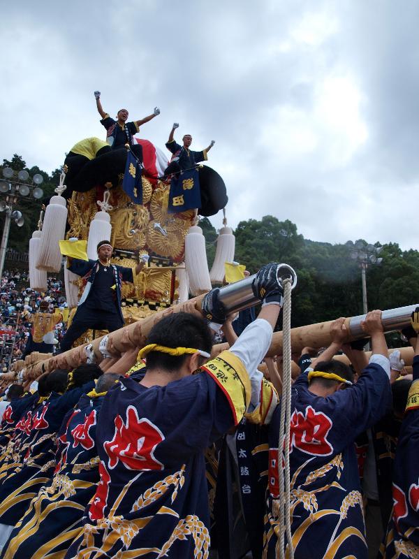 新居浜太鼓祭り 山根グラウンド 上部船木地区 池田太鼓台