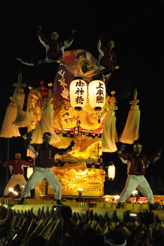 新居浜太鼓祭り 上部大生院地区 上本郷太鼓台