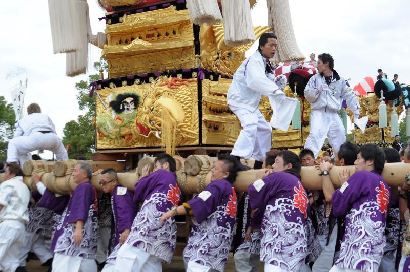 新居浜太鼓祭り 山根グラウンド 上部泉川地区 上泉太鼓台