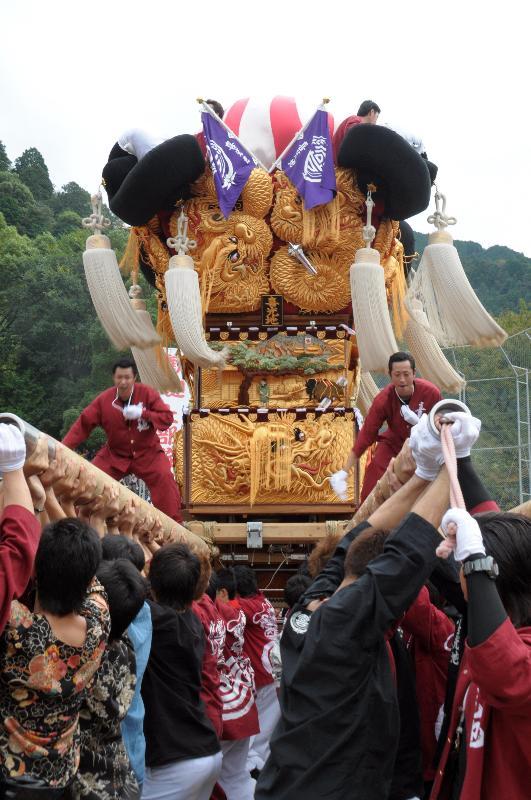 新居浜太鼓祭り 山根グラウンド統一寄せ 喜光地太鼓台