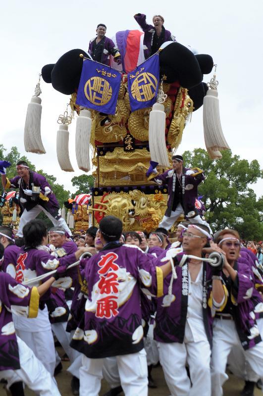 新居浜太鼓祭り 山根グラウンド 上部船木地区 久保原太鼓台