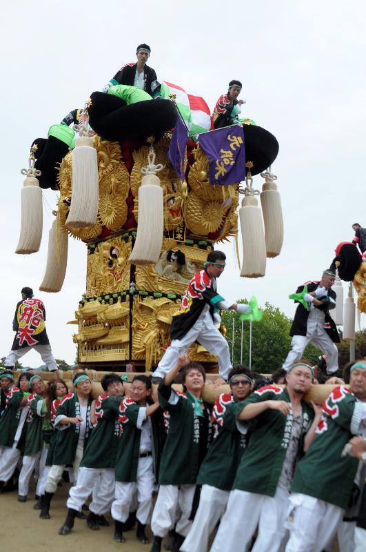 新居浜太鼓祭り 山根グラウンド 上部船木地区 元船木太鼓台