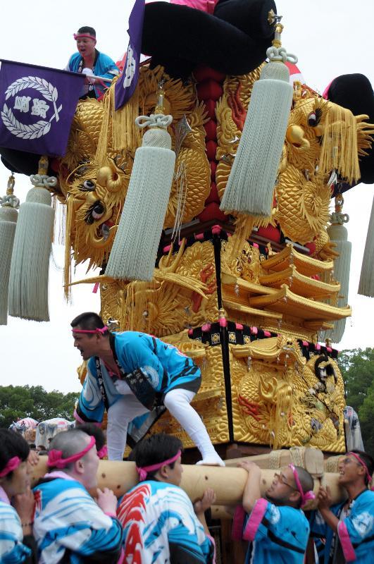 新居浜太鼓祭り 山根グラウンド 上部船木地区 長野太鼓台