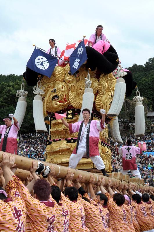 新居浜太鼓祭り 山根グラウンド統一寄せ 中筋太鼓台