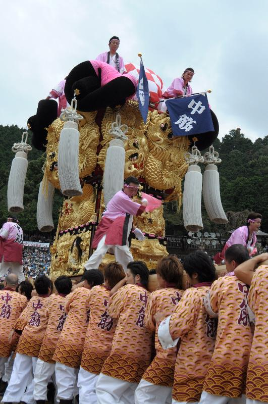 新居浜太鼓祭り 上部地区 山根グラウンド 中筋太鼓台