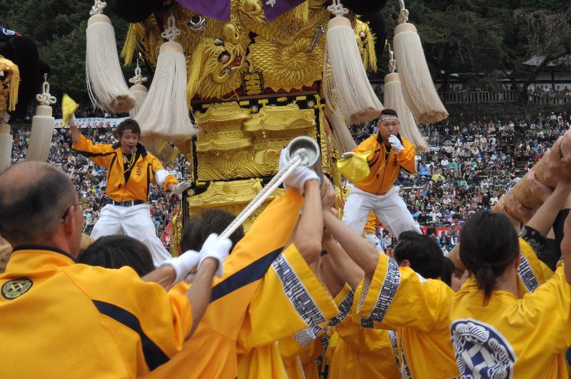 新居浜太鼓祭り 上部地区統一寄せ 松木坂井太鼓台